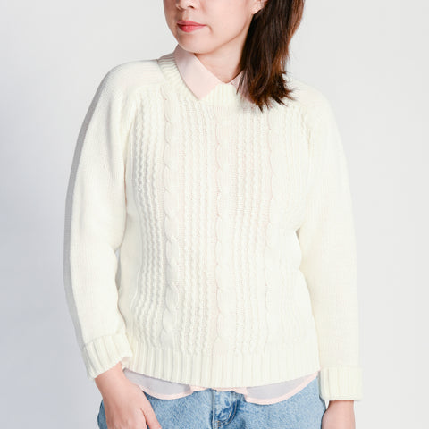 Random Acts of Pastel / Cream Knitted Sweater