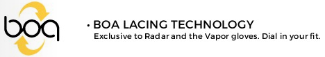 Radar Ski Gloves Boa Lacing Technology