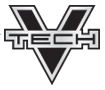 V Tech Logo Connelly - black