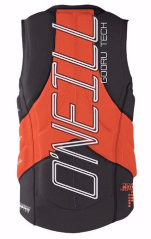 Black Orange Back View Oneill Vest