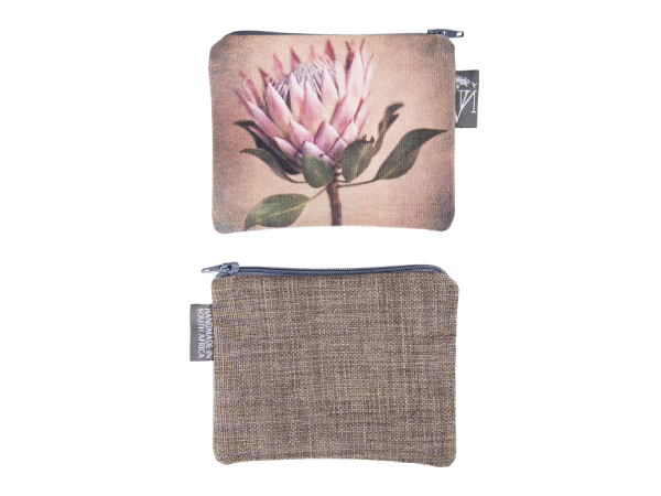 King Protea Fabric Pouch