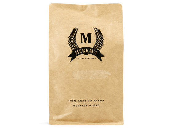 Merkava Blend roasted coffee beans