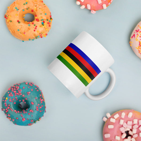 Cycling Rainbow Bicycle Bike Coffee Mug