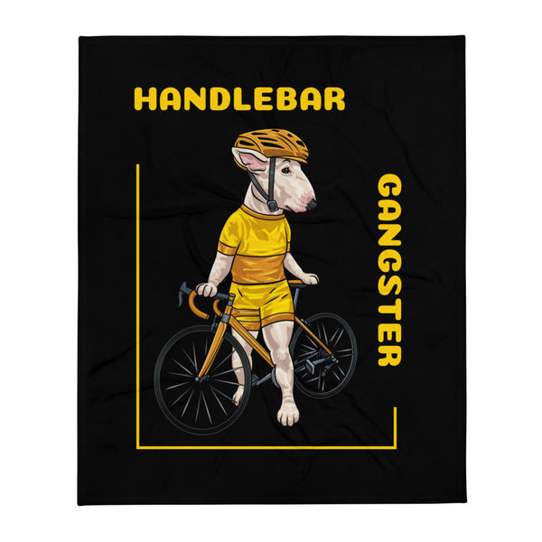 Handlebar Gangster Cycling Yellow Jersey Miley Bike Bicycle Black Throw Blanket