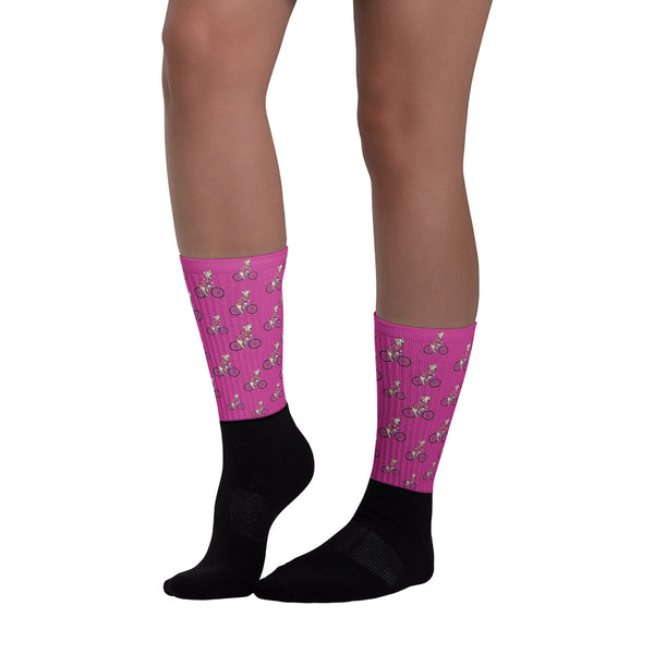 Handlebar Gangster Cycling Pink MTB Bicycle Socks