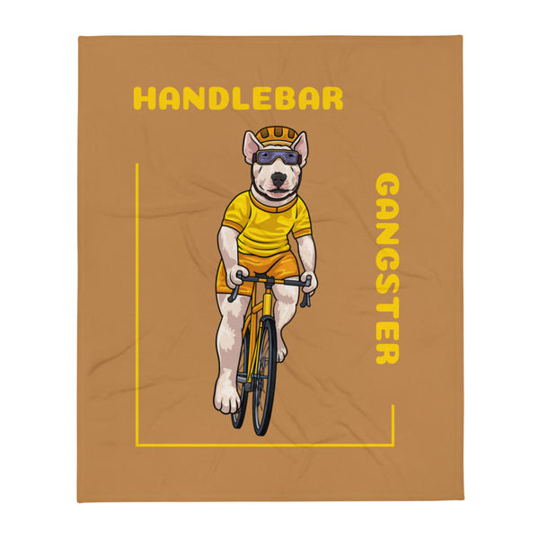 Handlebar Gangster Cycling Yellow Jersey Terry Bike Bicycle MTB Nude Throw Blanket