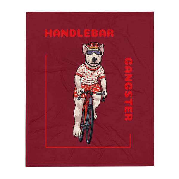 Handlebar Gangster Cycling Polka Dots Bully Bike Bicycle MTB Throw Blanket