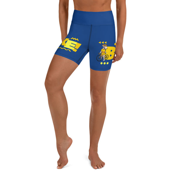 Handlebar Gangster Cycling Blue Yellow Jersey Road Bike Shorts