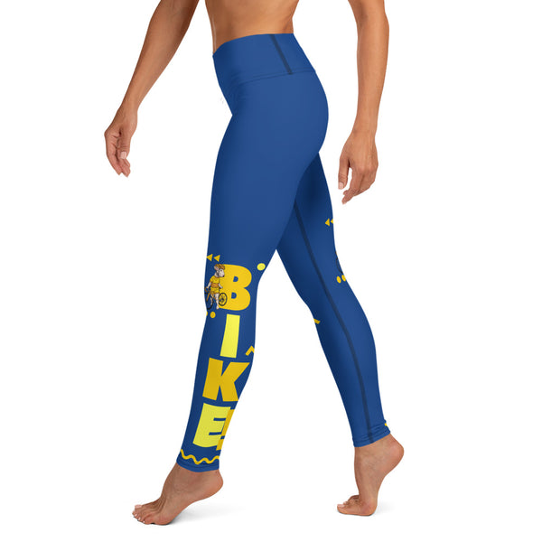 Handlebar Gangster Cycling Blue Yellow Jersey Road Bike Leggings