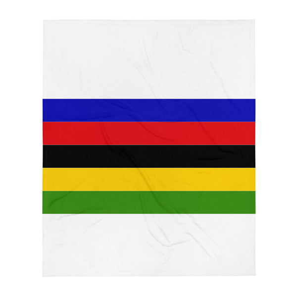 Handlebar Gangster Cycling Rainbow Jersey Bike Bicycle MTB  White Throw Blanket