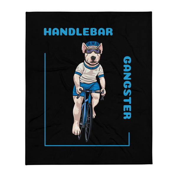 Handlebar Gangster Cycling White Jersey Henry Bike Bicycle MTB Black Throw Blanket