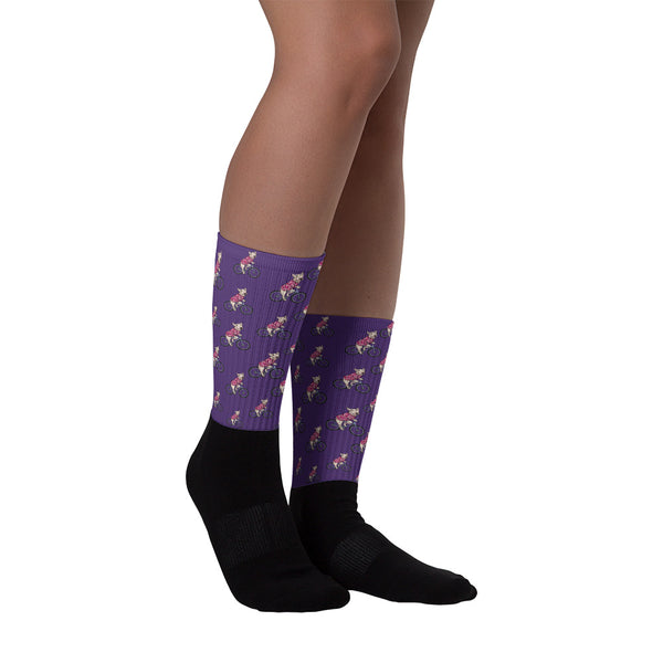 Handlebar Gangster Cycling Purple Pink MTB Bicycle Socks