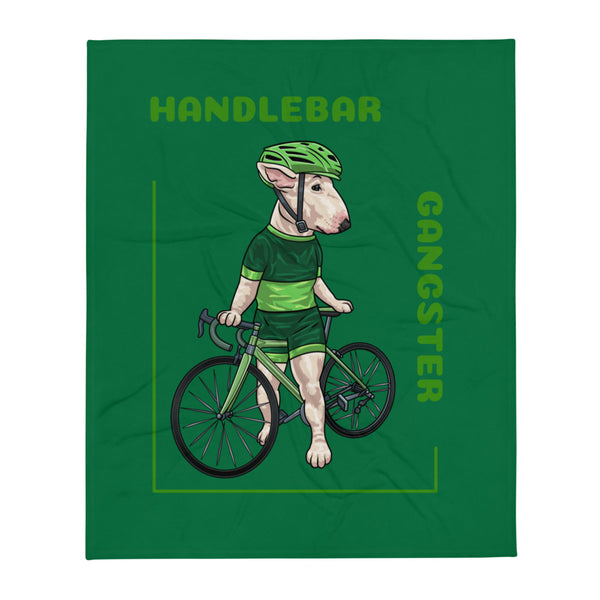 Handlebar Gangster Cycling Green Jersey Lysa Bike Bicycle MTB Throw Blanket