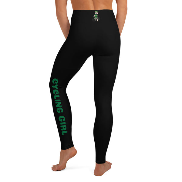 Lolamart Handlebar Gangster Cycling Girl Green Jersey Lysa Bike Bicycle MTB Black Sports Leggings