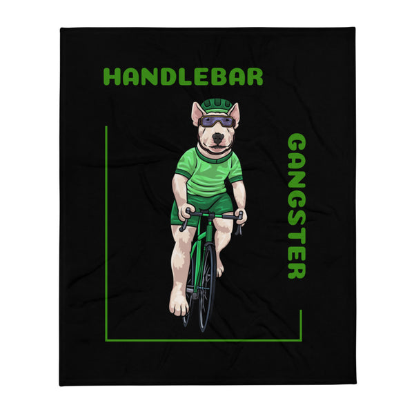 Handlebar Gangster Cycling Green Jersey Thony Bike Bicycle MTB Black Throw Blanket