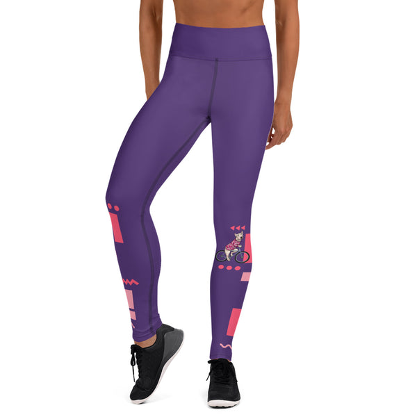 Handlebar Gangster Cycling Pink Purple MTB Bicycle Leggings