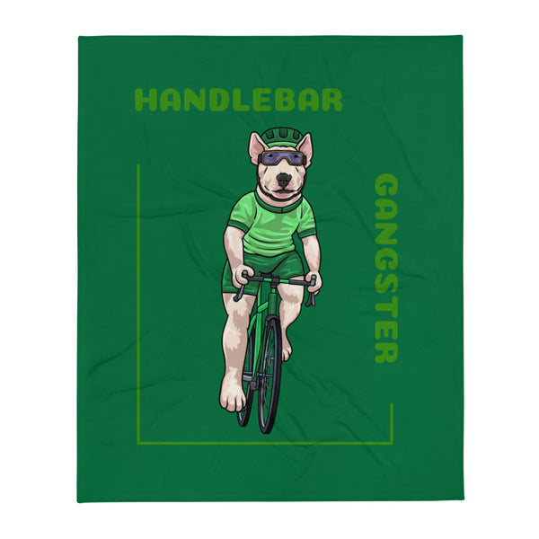Handlebar Gangster Cycling Green Jersey Thony Bike Bicycle MTB Throw Blanket