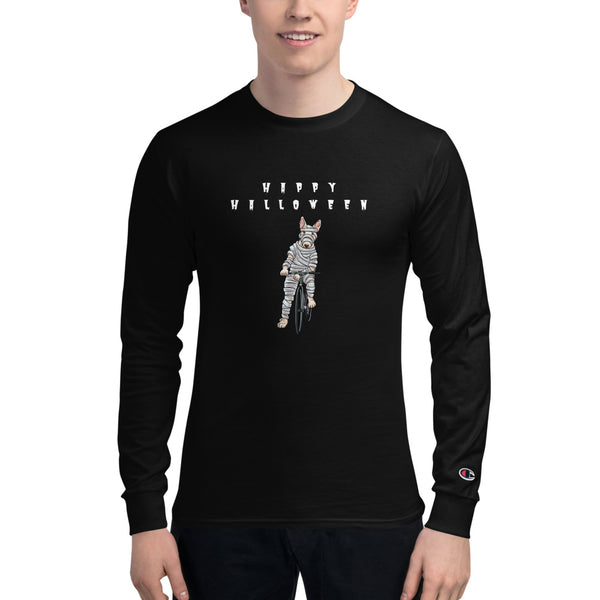 Men's Handlebar Gangster Cycling Happy Halloween MTB Bicycle Zombie Mummy Champion Long Sleeve Shirt