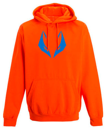 Fuchs Hoodie neon orange/bright blue