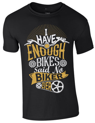 Enough bikes T-Shirt black-gold
