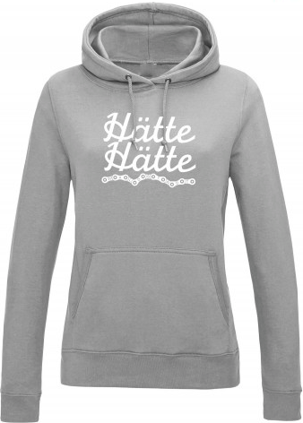 Haette Haette Fahrradkette Girls Hoodie grey heather