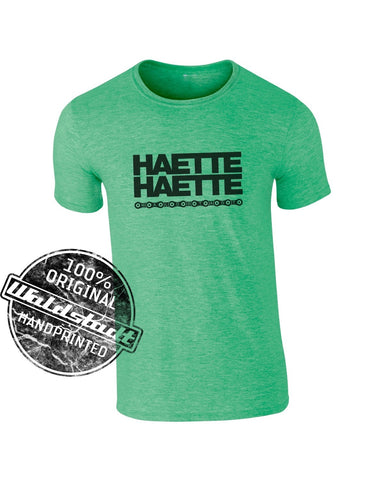 Haette Haette Fahrradkette T-Shirt green heather