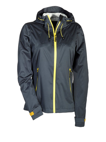 "Damen Outdoorjacke ""Spoke"" grau/gelb"