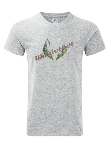 """Woodfox"" T-Shirt grau Fotoprint"