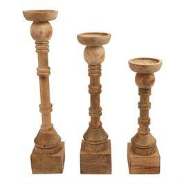 HAND-TURNED CANDLE STICKS - Market Street Boutique St Augustine