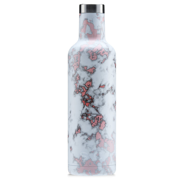 SIC Wine Bottle - Rose Gold Marble