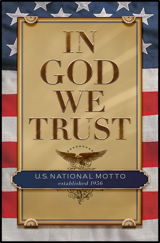 In God We Trust Poster 2.0 (General) - Framed