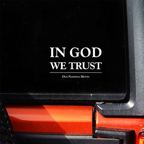 In God We Trust - America's Motto Window Decal