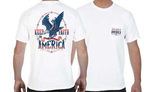 Keep Faith In America T-Shirt - Kids Large