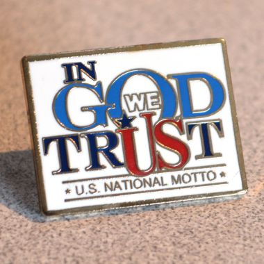 In God We Trust Lapel Pin