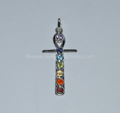 Ankh Cross Chakra Pendant - Raw Energy Tools