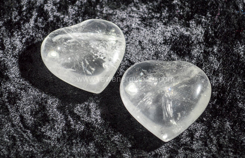 Clear Quartz Puffy Heart