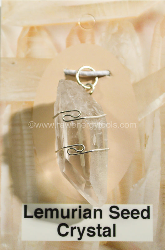 Lemurian Seed Wrapped Pendant