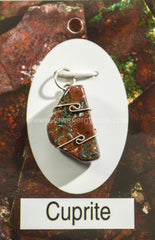 Cuprite Wrapped Pendant