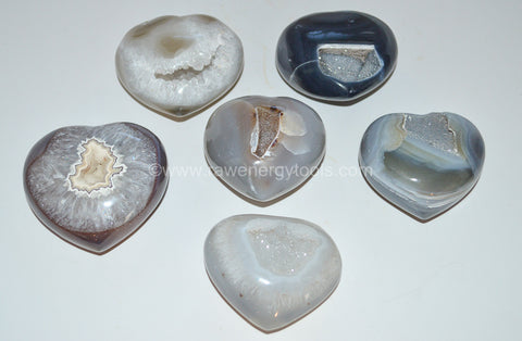 Agate Geode Hearts