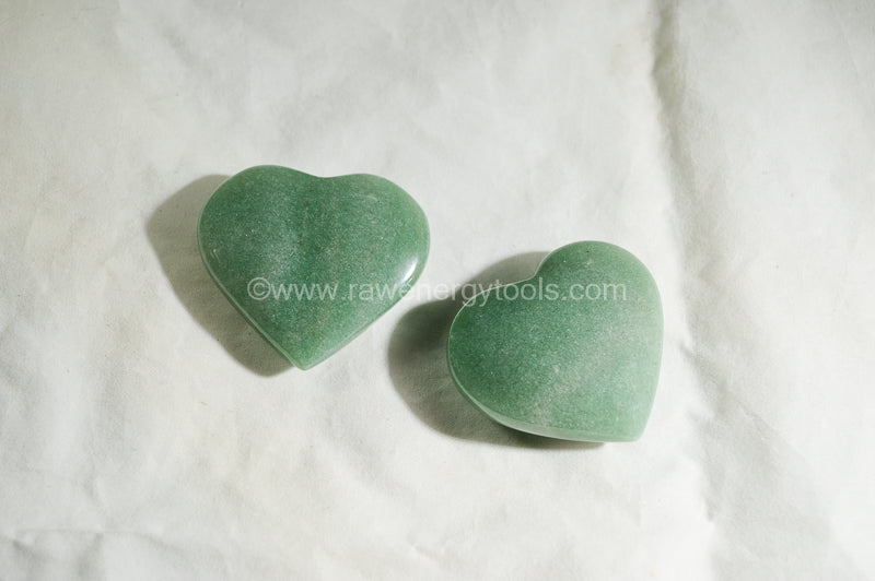 Green Aventurine Puffy Heart