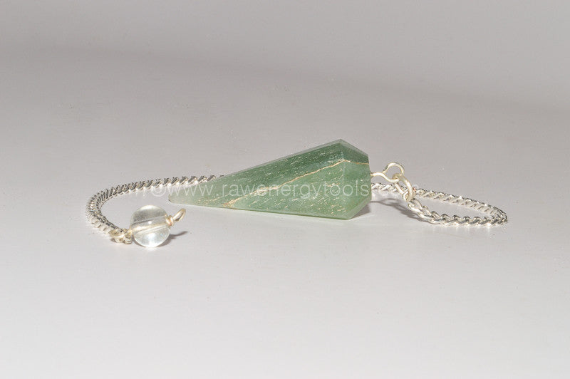 Green Flurorite Pendulum - Raw Energy Tools