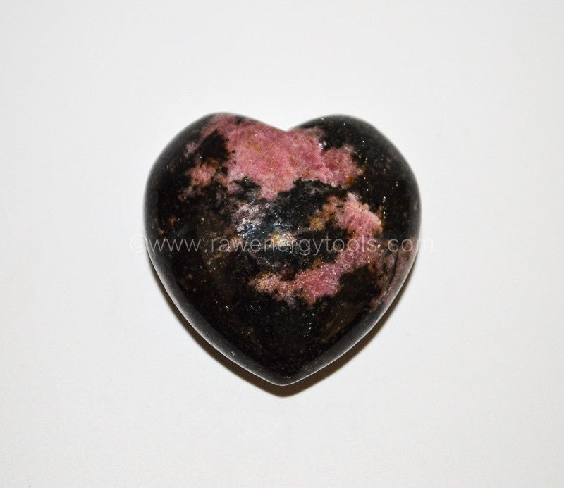 Rhodonite Puffy Heart - Raw Energy Tools