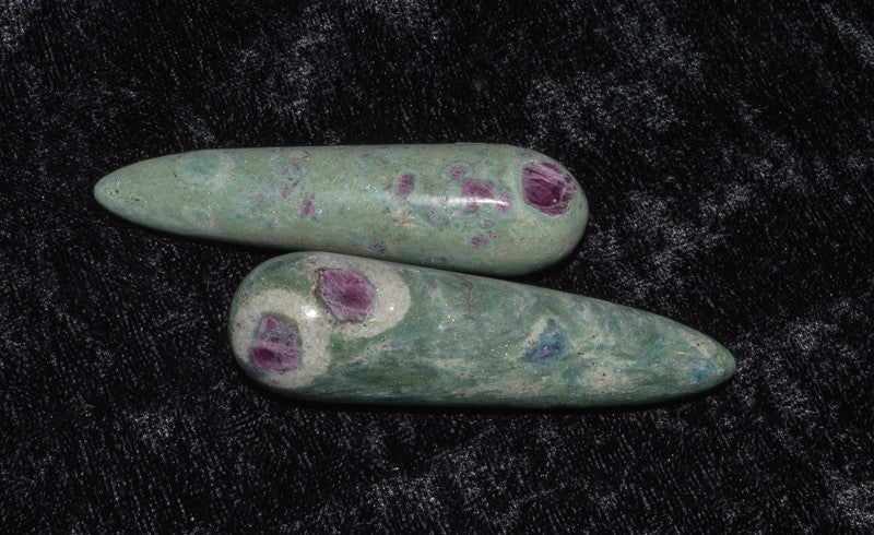 Ruby Fuchsite Crystal Wand - Raw Energy Tools