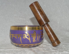 Tibetan Singing Bowl, Purple - Raw Energy Tools
