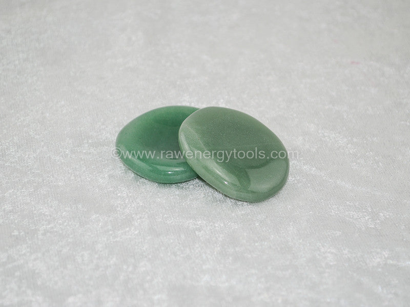 Green Aventurine Worry Stone - Raw Energy Tools