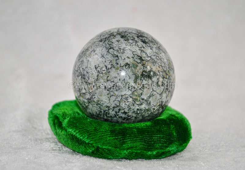 Moss Agate Sphere - Raw Energy Tools