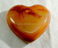 Carnelian Puffy Heart - Raw Energy Tools