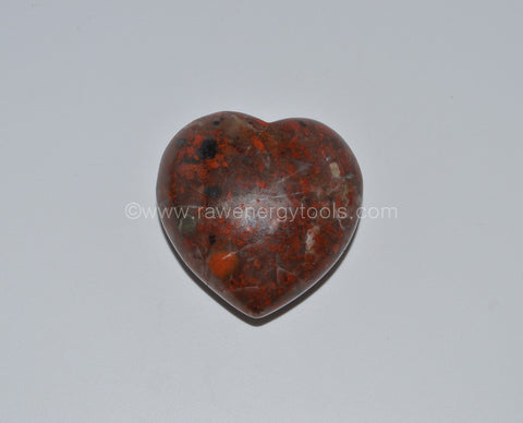 Brecciated Jasper Puffy Heart