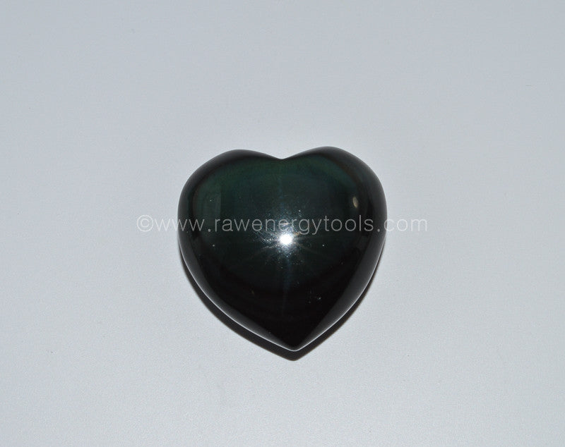 Obsidian Puffy Heart - Raw Energy Tools