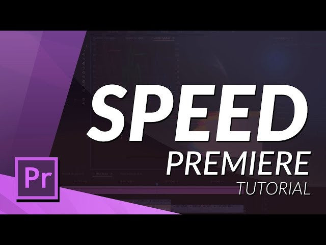 WORK WITH SPEED IN PREMIERE PRO CC 2017